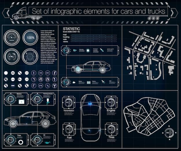 Infografika tarczy, spinner elementów hud. futurystyczny interfejs użytkownika.