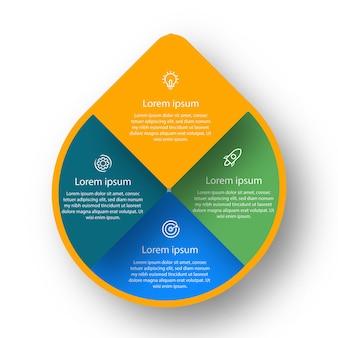 Infografika wody wykresy biznesowe osie czasu prezentacja diagramy danych procesowych diagramy kroków raport
