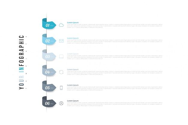 Infografika z 6 opcjami, krokami lub procesami.