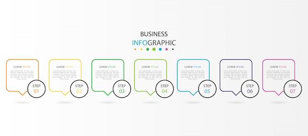 Infografika z 7 krokami lub opcjami
