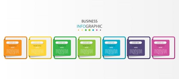 Infografika z 7 opcjami lub krokami