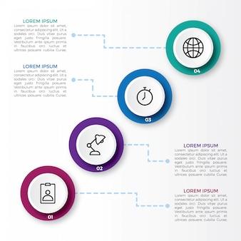 Infografika z krokami i opcją