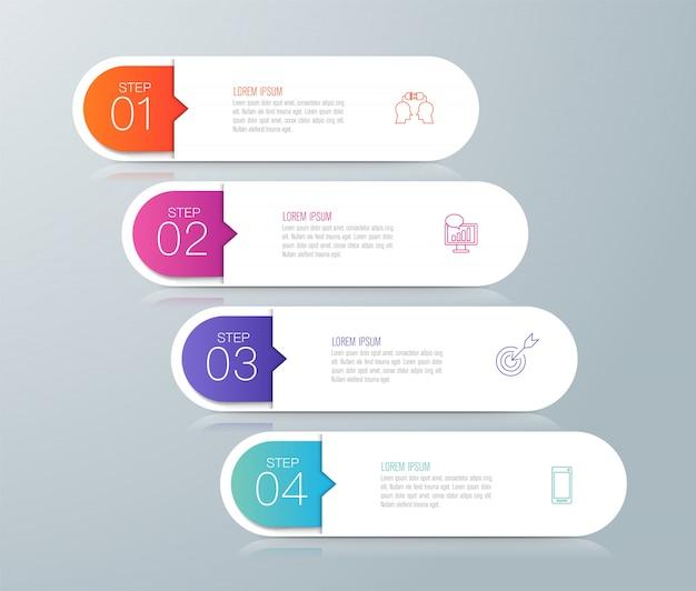 Infografika z krokami