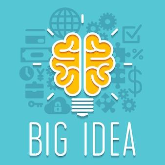 Infografika żarówki bogaty pomysł innowacji