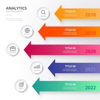 Infografiki analityczne w nowoczesnym stylu