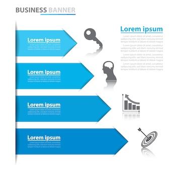 Infografiki baner strzałki biznesu