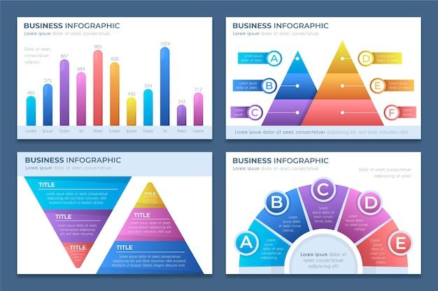 Infografiki biznesowe gradientu