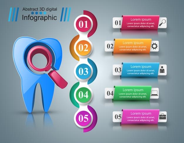 Infografiki biznesowe. ikona zęba.