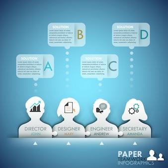 Infografiki biznesowe pracy zespołowej