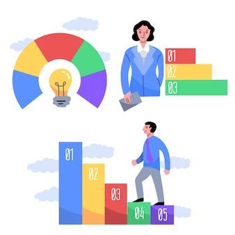 Infografiki biznesowe rysowane ręcznie