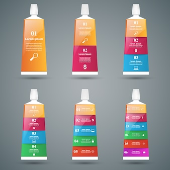 Infografiki biznesu ikonami pasty do zębów