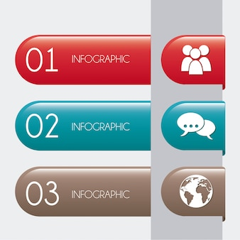 Infografiki biznesu na szarym tle