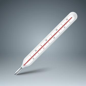Infografiki biznesu termometr