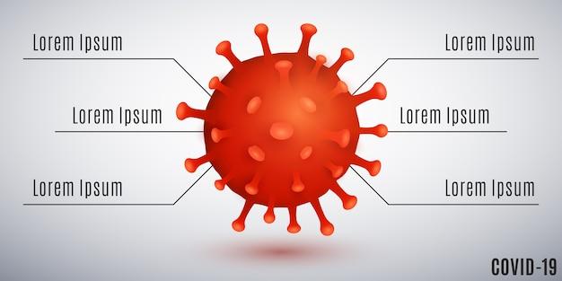 Infografiki dla bakterii covid-19.