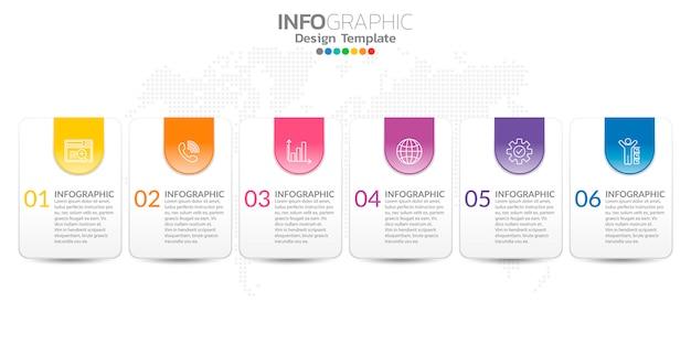 Infografiki dla koncepcji biznesowej z ikonami i opcji lub kroków.