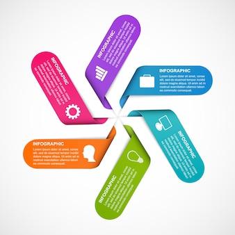 Infografiki do prezentacji biznesowych lub baner informacyjny.