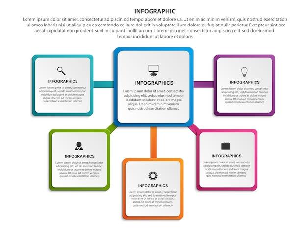 Infografiki Do Prezentacji Biznesowych Lub Banerów Informacyjnych Premium Wektorów