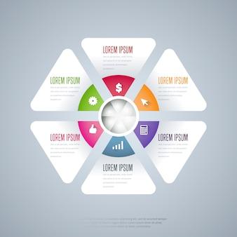 Infografiki elementów szablon wektor