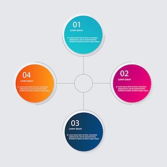 Infografiki elementy w stylu nowoczesnego biznesu płaskiego.