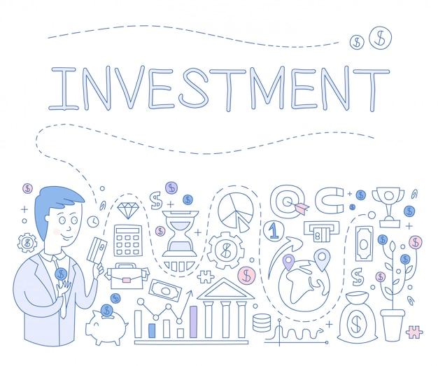 Infografiki inwestycyjne. ilustracja
