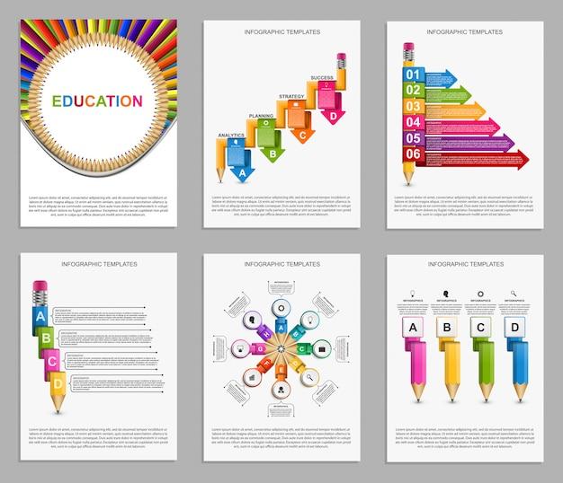Infografiki kolekcji. elementy wystroju.