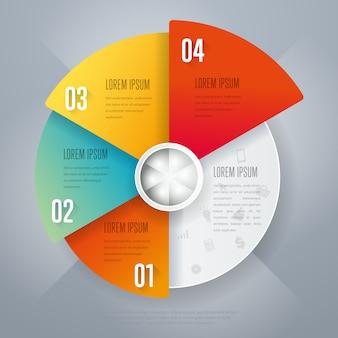 Infografiki koło firmy
