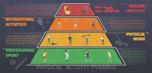 Infografiki kolorowe aktywny tryb życia