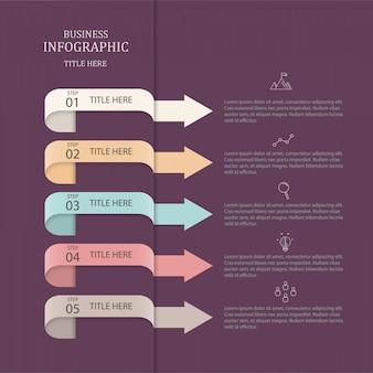 Infografiki kolorowe strzałki