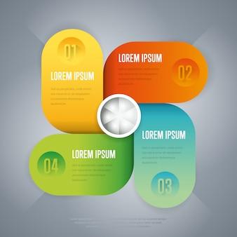 Infografiki koncepcja biznesowa szablonu strage.