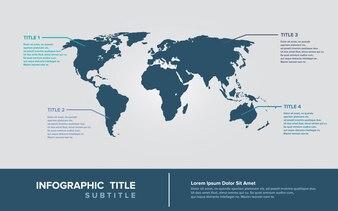 Infografiki mapy świata
