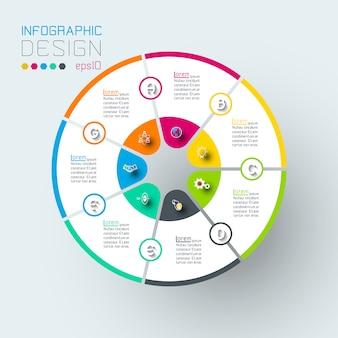 Infografiki na wektor graficzny.