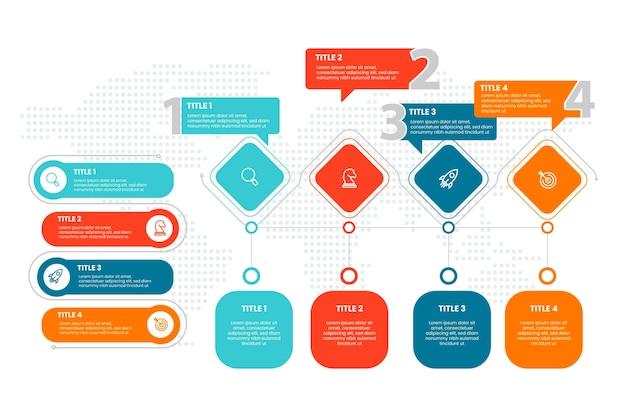 Infografiki nieruchomości o płaskiej konstrukcji