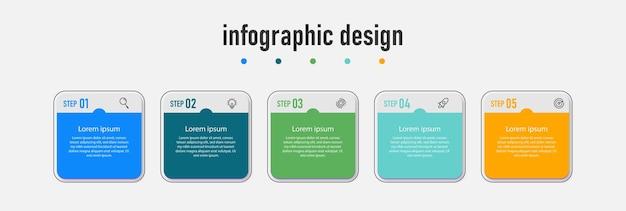 Infografiki osi czasu kroki projektu biznes szablon