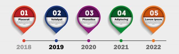 Infografiki osi czasu. schemat przepływu pracy i procesu