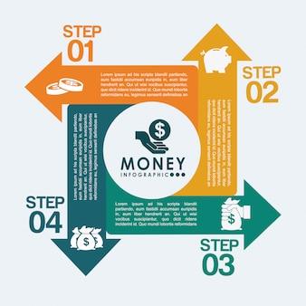 Infografiki pieniędzy