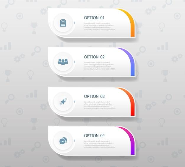 Infografiki pionowe w czterech krokach