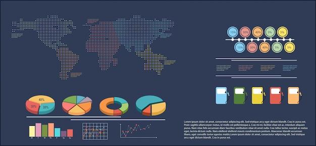 Infografiki przedstawiające mapę