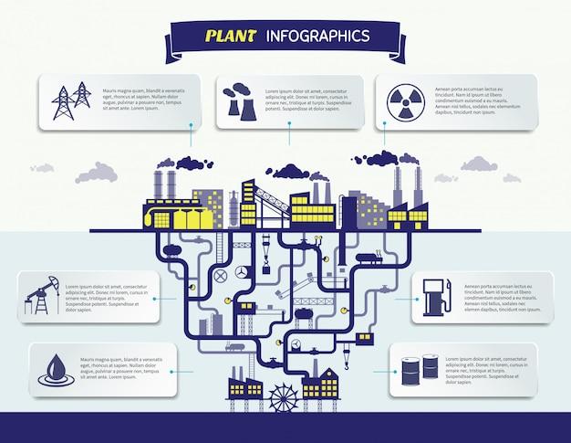 Infografiki roślin wektorowych ilustracji