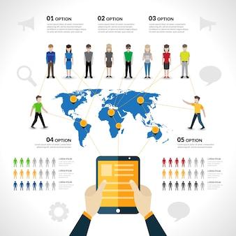 Infografiki sieci społecznej