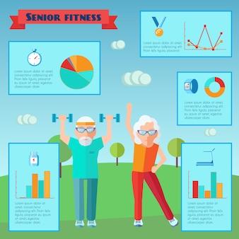 Infografiki starszy sport