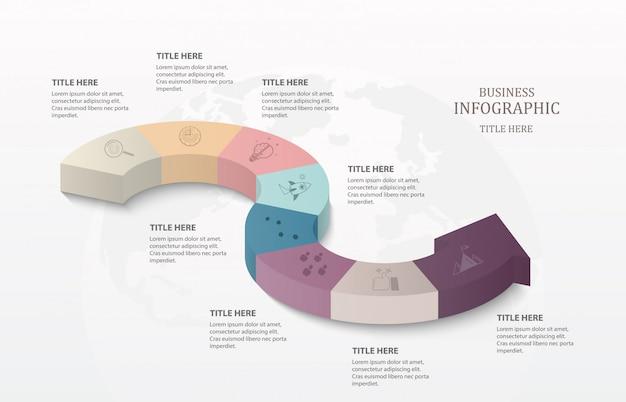 Infografiki strzałek 3d