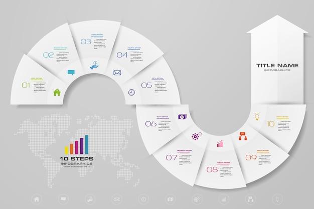 Infografiki strzałka elementu wykresu.
