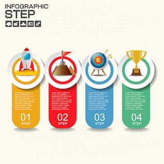 Infografiki szablon dla biznesu, edukacji