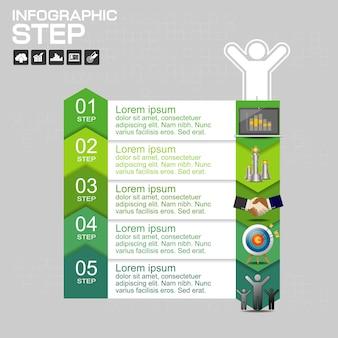 Infografiki szablon dla biznesu
