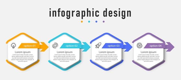 Infografiki szablon elementu projektu.