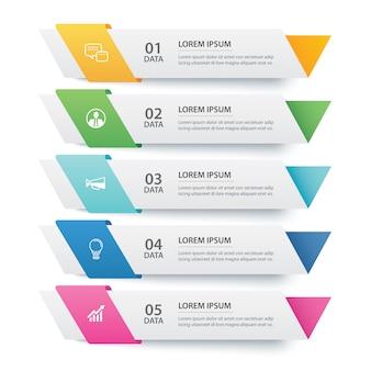 Infografiki szablon karty papieru szablon danych.
