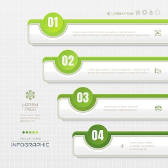 Infografiki szablon z ikonami