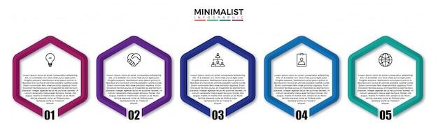 Infografiki sześciokątne firmy