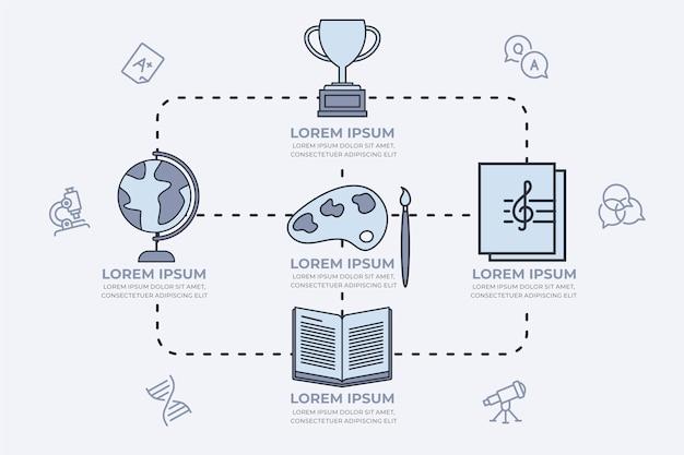 Infografiki szkoły płaska konstrukcja