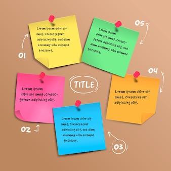 Infografiki tablic samoprzylepnych